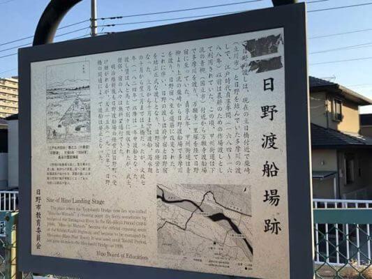 日野渡船場跡