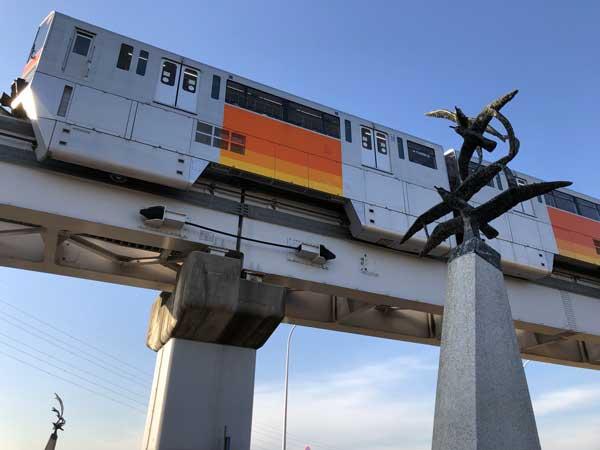 日野の渡し跡は多摩モノレール線立日橋の下