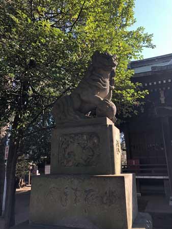 上石原若宮八幡神社の狛犬