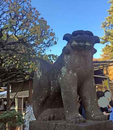 布多天神社の狛犬