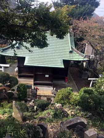 富士塚から見下ろした本殿