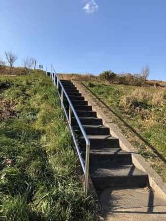 丹後の渡し跡に行く階段(流山側)