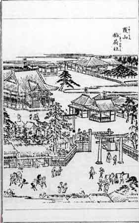 江戸名所図会「霞山稲荷」(櫻田神社旧名)