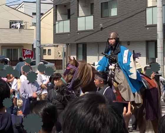 新選組隊士パレードの近藤勇(日野宿会場)