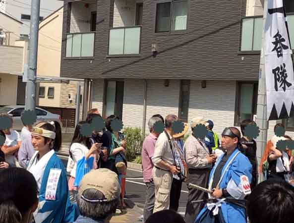 新選組隊士パレードの沖田総司(日野宿会場)