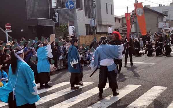 新選組パレードの銃撃戦(永倉新八)