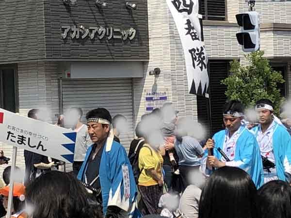 新選組隊士パレードの松原忠治(日野宿会場)
