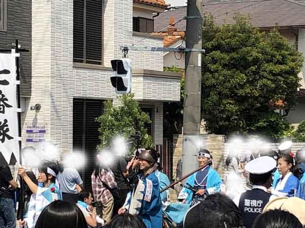 新選組隊士パレードの谷三十郎(日野宿会場)