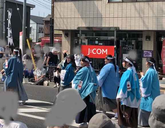 新選組隊士パレードの藤堂平助(日野宿会場)