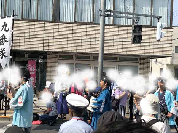 新選組隊士パレードの鈴木三樹三郎(日野宿会場)