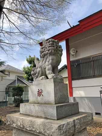 日野宮神社の狛犬