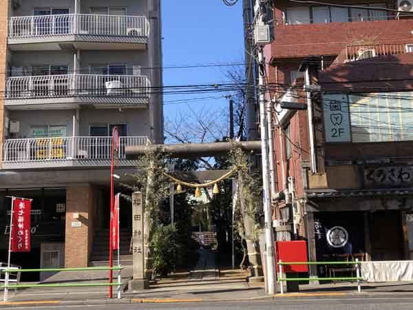 櫻田神社の入口