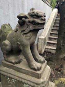 沖田総司お宮参り当時からある狛犬