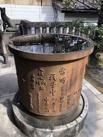 櫻田神社の天水桶