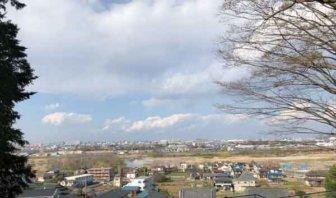 大蔵院裏山から見下ろした平村