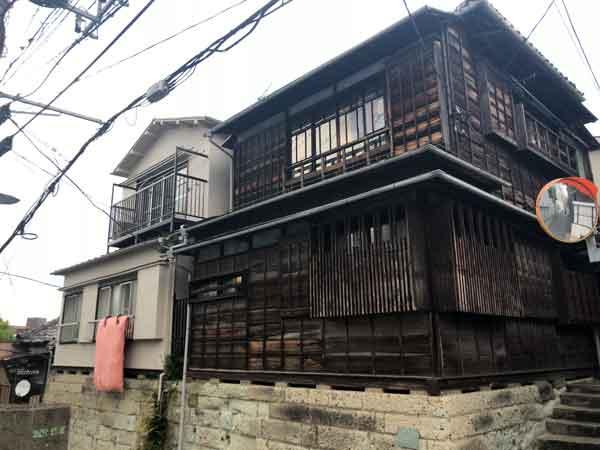 藤田五郎が一時住んだ場所(建物はその後建て替えられたもの)
