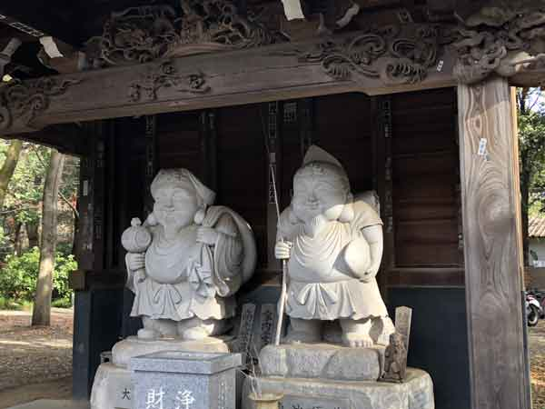 深大寺の恵比寿像・大黒天像