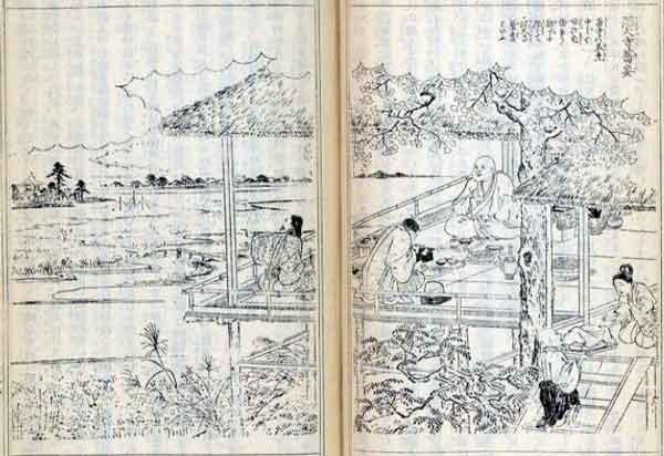深大寺蕎麦(江戸名所図会)
