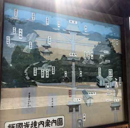 護国寺の境内案内図