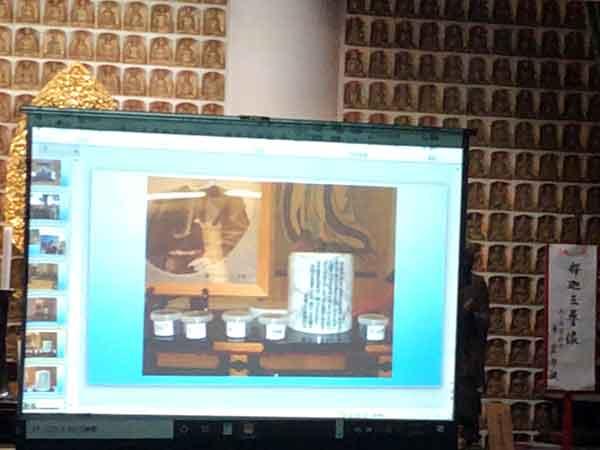 土方愛氏講演で:土方歳三埋葬伝承の土地を巡って集めた土と法要